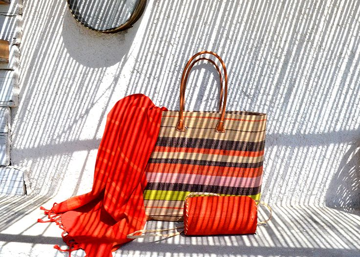 Pestemal Tower and Sea Bag. Orange fashion
