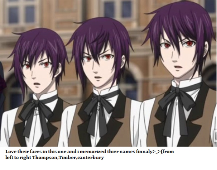 Anime Characters Sister Reader : Black butler ii the demon triplets thompson timber and