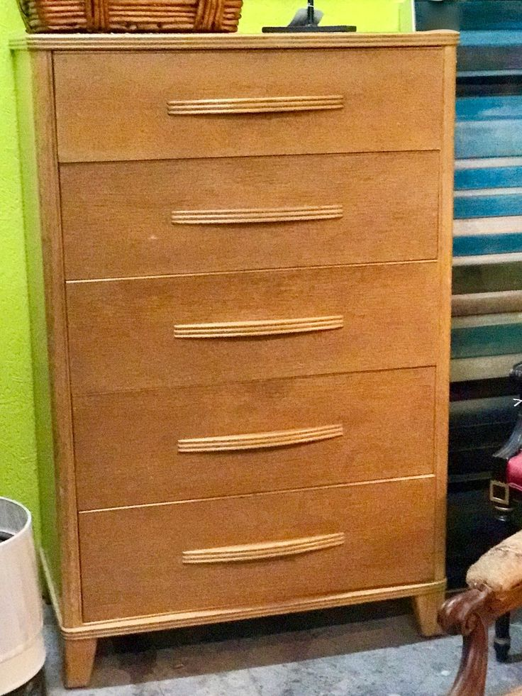 "Tall Vintage Mid Century Modern Dresser On Sale   34"" Wide x 19"" Deep x 52"" High   Was $425 Sale Price $345  #88241  Rick's Antiques and Home Decor, Dealer #36  White Elephant Antiques  1026 N. Riverfront Blvd. Dallas, TX 75207"