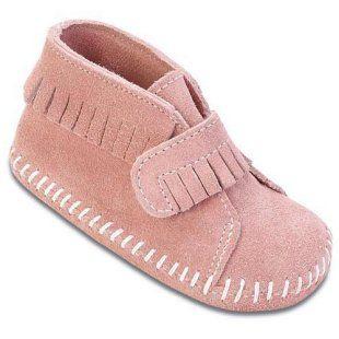 Minnetonka Velcro Strap Bootie - Kids Moccasins at Moccasins
