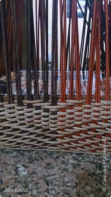 Поделка изделие Плетение небольшое пояснение узора Трубочки бумажные фото 14