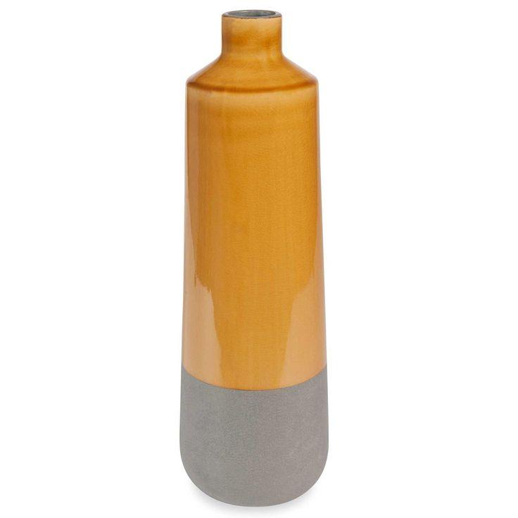 Vase en céramique jaune H 43 cm PORTOBELLO
