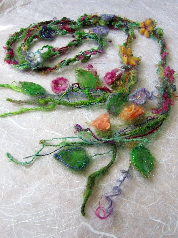 enchanted forest fantasy fairy garland lariat by beautifulplace, $39.00