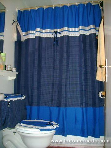 Cortina elaborada en tela cortinas de ba o pinterest - Cortinas de tela para banos fotos ...