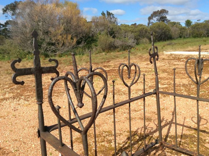 Old wrought iron fence for a child's grave in country South Australia circa 1870s