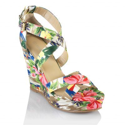 3 SUISSES - Sandales compensées imprimées - ...autres - Femme