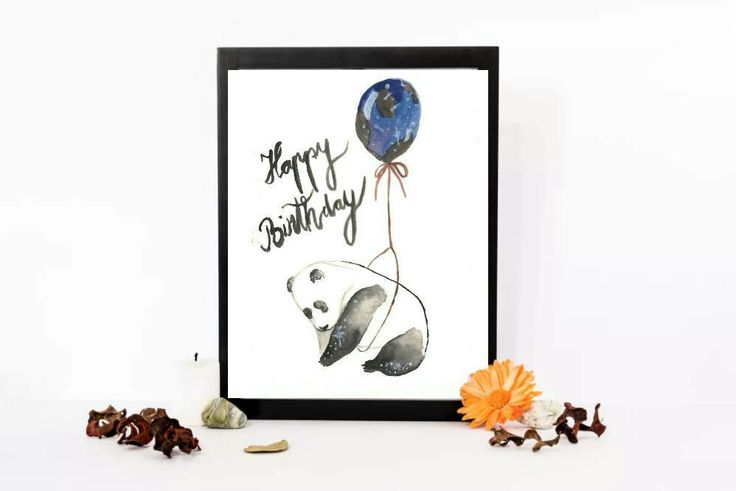 Excited to share the latest addition to my #etsy shop: Happy Birthday panda watercolor paint, Handmade painting, watercolor birthday card. #papergoods #birthday #instantdownload #handmadewatercolor #watercolorcard #happybirthday #panda http://etsy.me/2jUg4H3