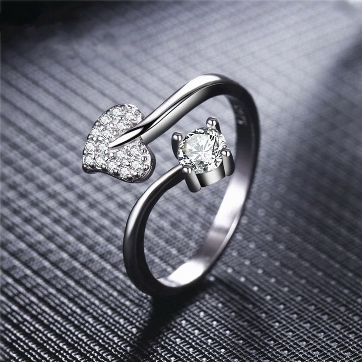 Find More Rings Information about VINNAGO Wedding Anniversary Engagement Rings for Women Cubic Zirconia Heart Adjustable Rings Female Unique Valentine's Day Gift,High Quality ring anchor,China ring wedding Suppliers, Cheap ring black from Vinnago Franchised Store on Aliexpress.com