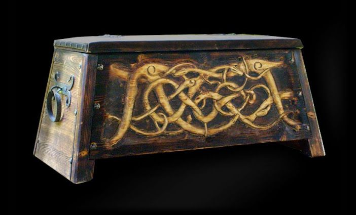 Viking Chest. These were used as seats whilst rowing, the long boats.
