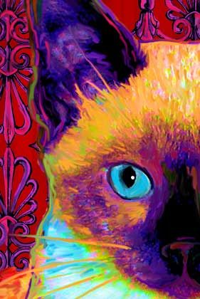 siamese cat art: great example of color to create shadow.