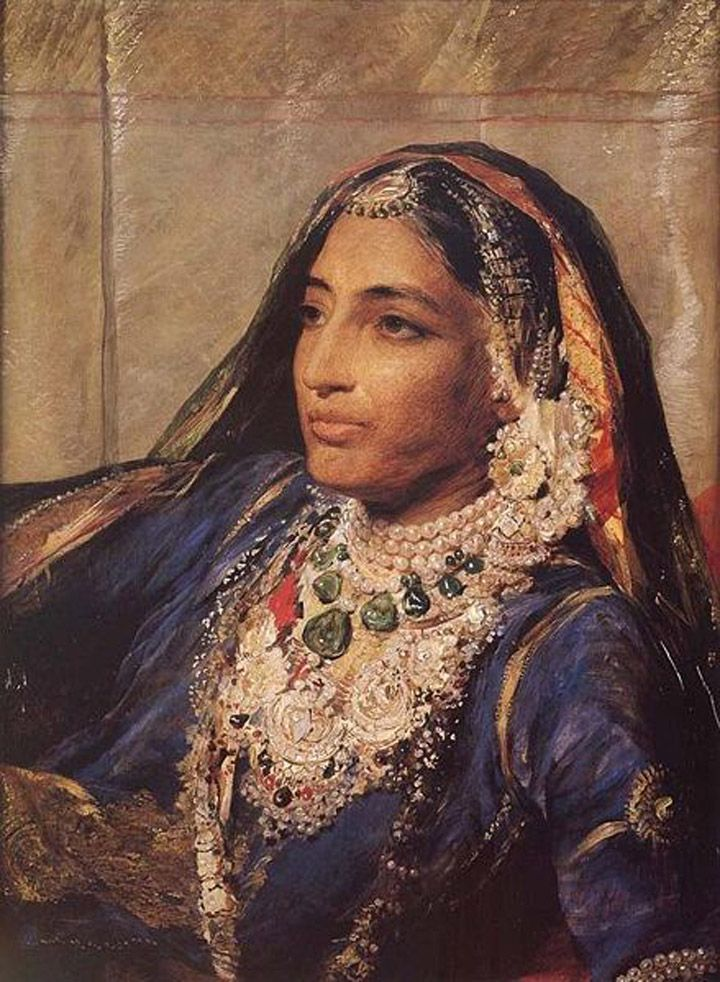 Maharani Jind Kaur, also popularly known as Maharani Jindan (1817-1863) was the youngest wife of Maharaja Ranjit Singh,and the mother of the last Sikh Emperor, Maharaja Duleep Singh. She was renowned for her great beauty and personal charm along with her 'characteristic strength of a man' qualities.