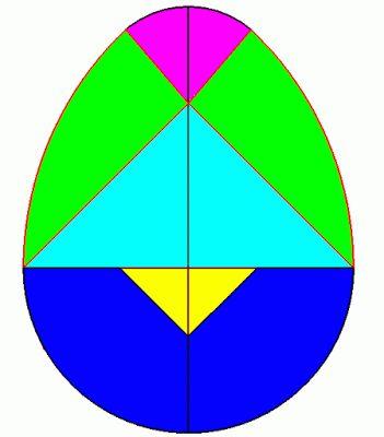 Moldes de tangram oval para imprimir!