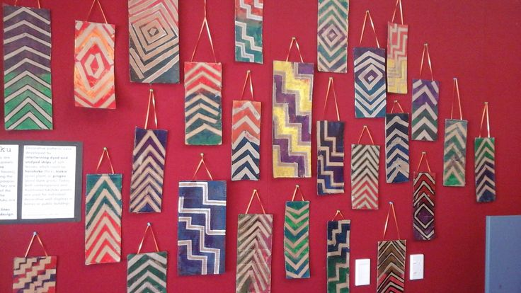 Tukutuku panels using cardboard and acrylic paint. Inspired by Norm Heke and Julia Noanoa's book 'Maori Art for kids'