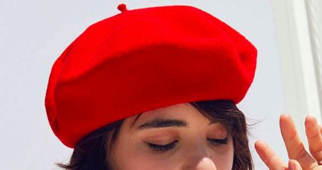 Red Beret; this exact one from Urban Outfitters but very expensive for a beret