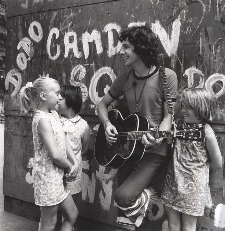 Cat Stevens with some young fans, photographed by David Wedgbury, 1969.