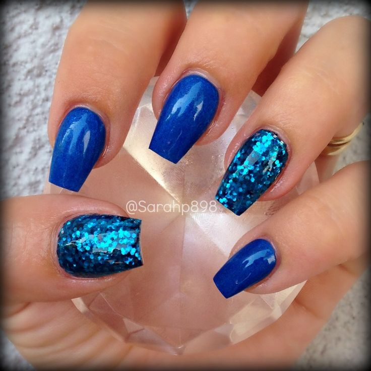 Blue coffin nails