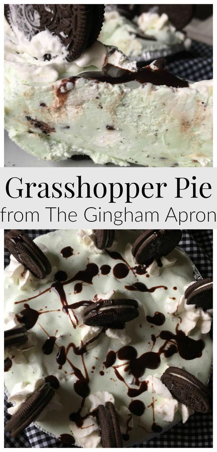 Grasshopper Pie- and Ice cream dessert that is easy to make and SO DELICIOUS!