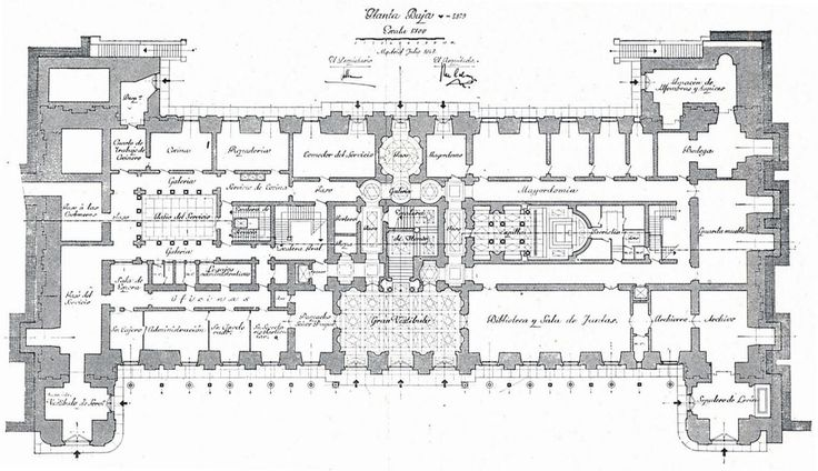 The Devoted Classicist: Palacio de Liria: The Madrid Residence Of The Duchess Of Alba  The Ground Floor Plan, Liria Palace.