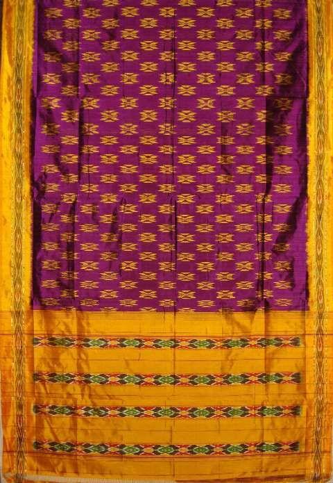 Pochampally Saree Rs.3450.00 at http://www.chloehouse.in/magenta-yellow-pochampally-silk-saree/