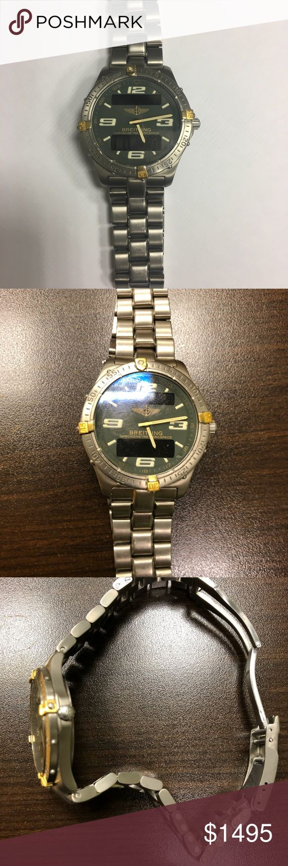 Breitling Aerospace Chronometre watch Breitling men's watch- excellent condition. All original packaging included - certificate of authenticity. Minor scuffs on band but clasp is fully functional- this is an heirloom piece! Breitling Accessories Watches