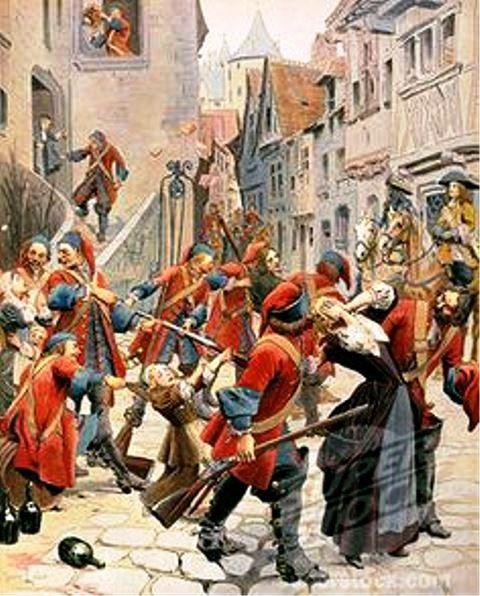 Protestants in Southern France escaped persecution by settling in North America . - .Protestants en Languedoc-Roussillon s'est échappé de persécution par décantation en Amérique du Nord
