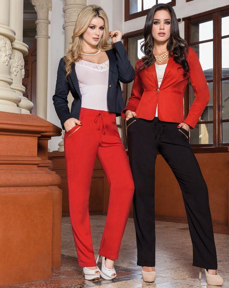 Luce elegante y relajada a la vez con T&T Jeans una excelente opción para llevar a la oficina!!