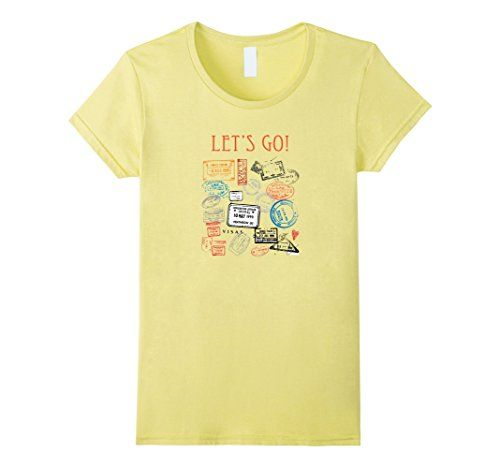 Women's Let's Go - Motivational Vacation T-Shirt For Travelers