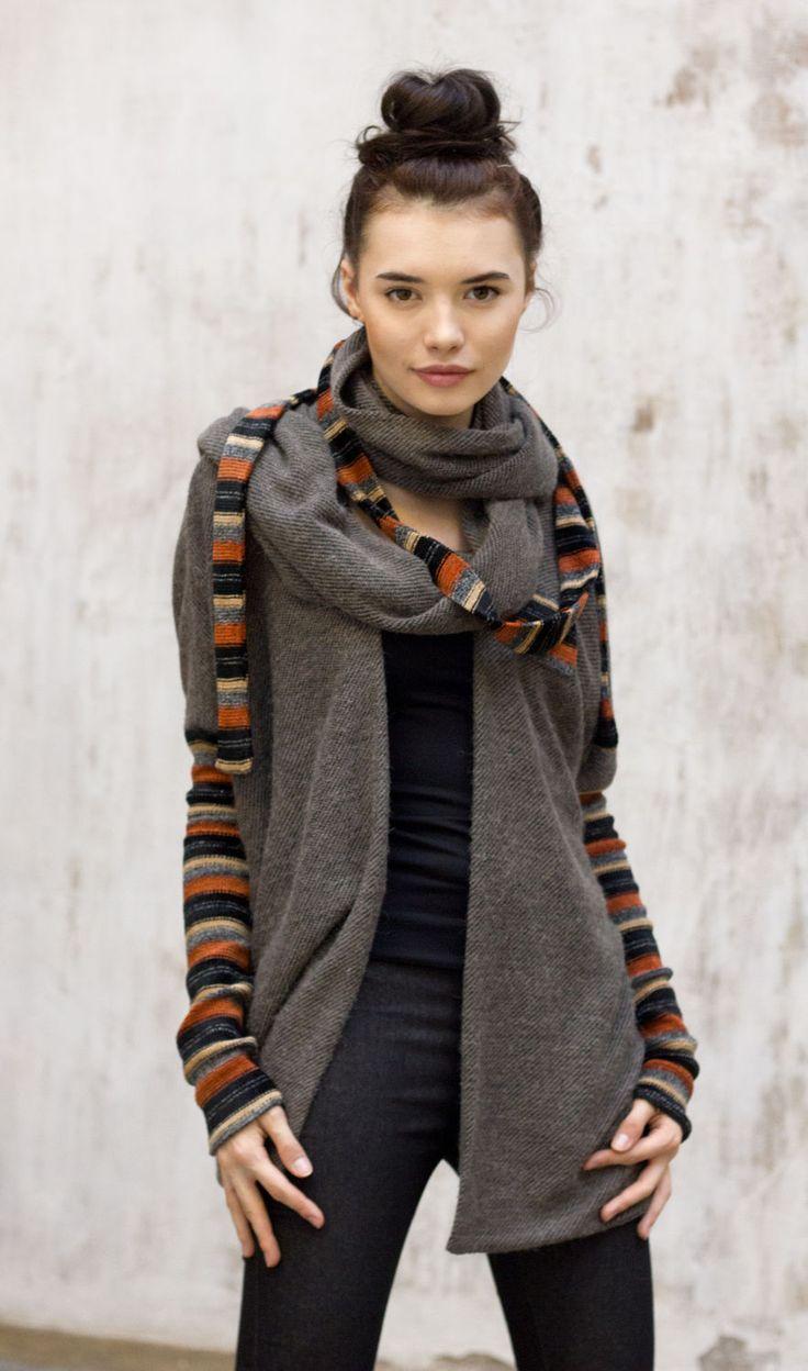 Купить Шерстяной шарф трансформер / Модные аксессуары 2016 - шерстяной шарф, шарф трансформер