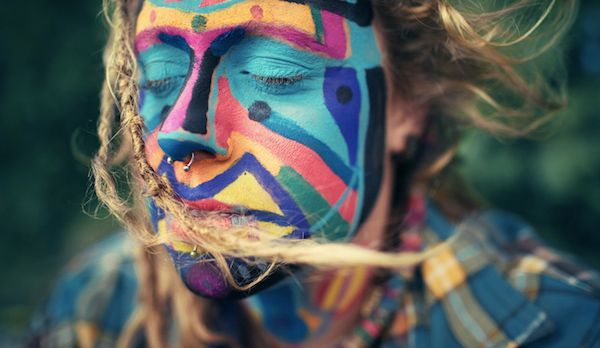 Photos of people who attend the rainbow gathering.  A hidden subculture.