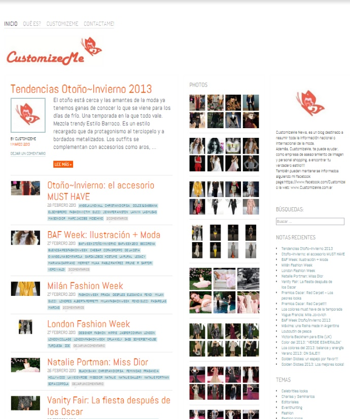 Tema Ideation and Intent, ideal para Blog de Moda
