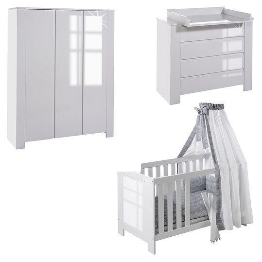 Schardt - Kinderzimmer Cube mit 3-türigem Schrank - Weiß - Babyartikel.de