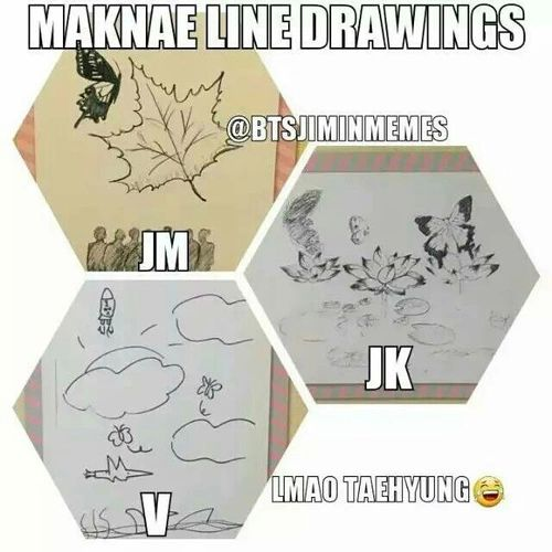 Look at how well Jimin can draw~~ ooohhh I'm so prouddd! V is getting there XD I love his ~ so unique~ A+ for effort baby~