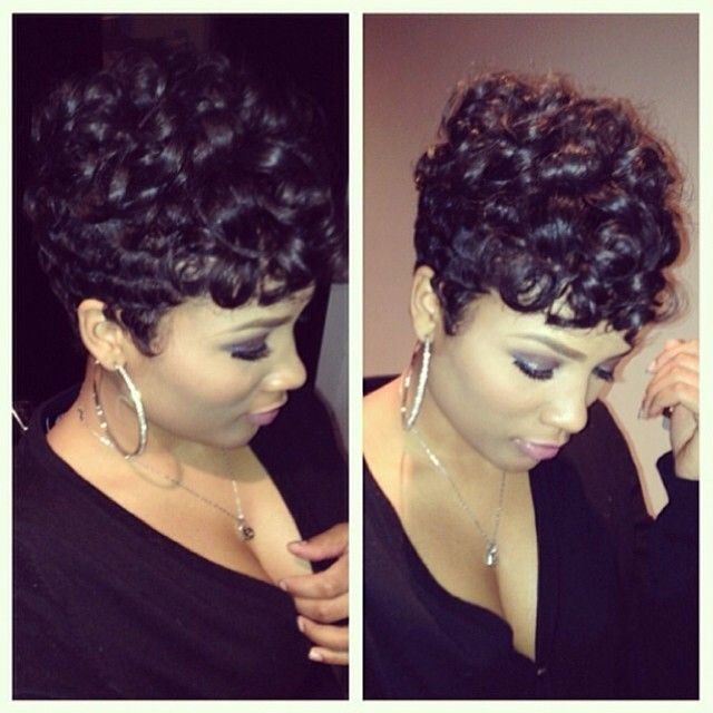 Pretty! @nelly_mane | #thecutlife #shorthair #curls #beauty #style #stunner ✂️ #Padgram
