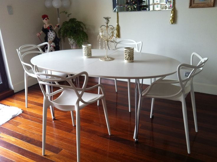 White masters chairs by kartell kitchenette pinterest - Tabouret masters kartell ...