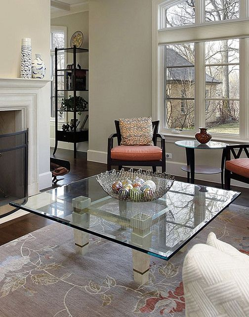 This Coffee Table Was Made With A Custom Cut Square Glass Insert From  Dulles Glass U0026