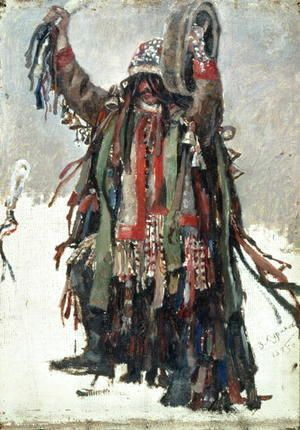 A Shaman, sketch for Yermak Conquers Siberia, 1893  Vasilij Ivanovic Surikov