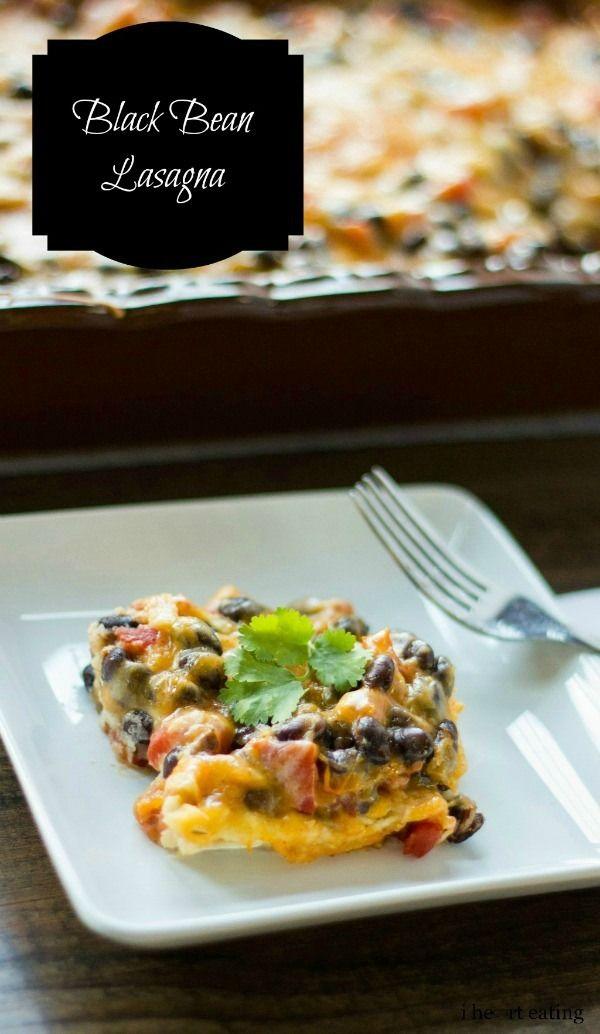 Black Bean Lasagna   #healthy #vegetarian #recipe