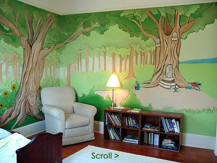 Enchanted Forest Mural...I Would Continue Up On The