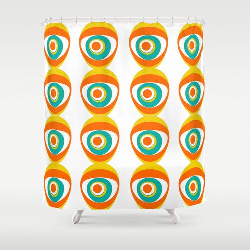 Hey, I found this really awesome Etsy listing at https://www.etsy.com/listing/231807515/modern-orange-shower-curtain