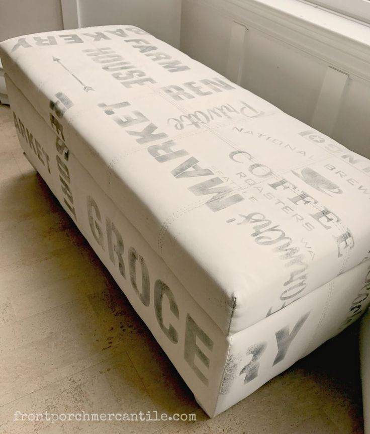 Cool Graffiti bench from Front Porch Mercantile made with Funky Junk's Old S…   – doing this