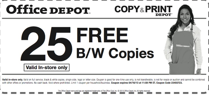 Office depot coupon code for business cards