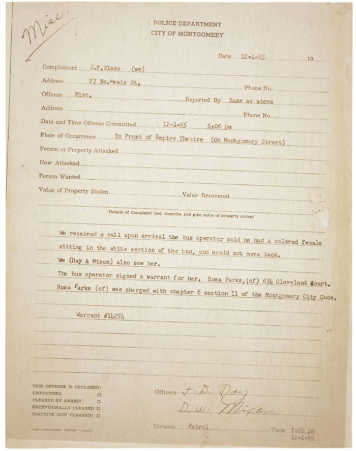 Document Deep Dive: Rosa Parks' Arrest Records | History & Archaeology | Smithsonian Magazine