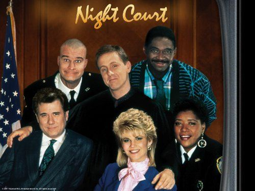 "Night Court is an American television situation comedy that aired on NBC from January 4, 1984 to May 31, 1992. The setting was the night shift of a Manhattan court, presided over by the young, unorthodox Judge Harold T. ""Harry"" Stone (played by Harry Anderson)also starring Karen Austin  John Larroquette  Paula Kelly  Richard Moll  Selma Diamond  Ellen Foley  Charles Robinson  Markie Post  Florence Halop  Marsha Warfield"