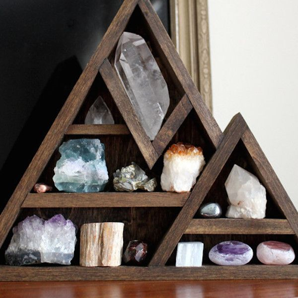Wooden Crystal Storage Shelves | In My Sacred Space