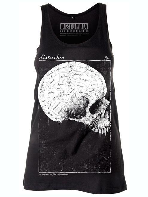 Phrenology Vest Dress #skull #style #black