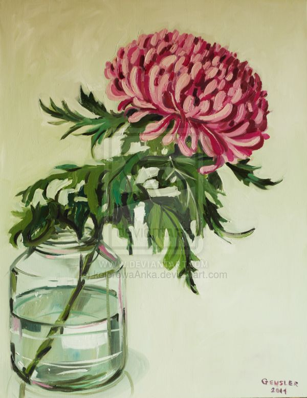 Chrysanthemum by kolorowaAnka.deviantart.com on @deviantART