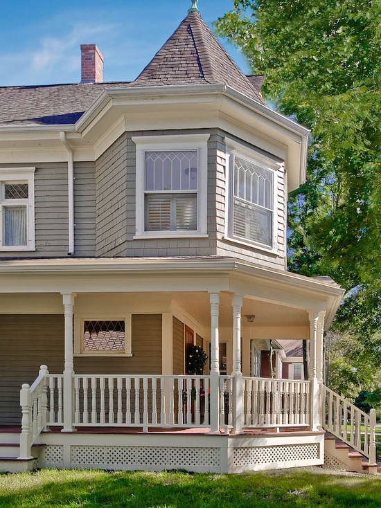 HOME PAINT VICTORIAN On Pinterest Exterior Colors Revere Pewter