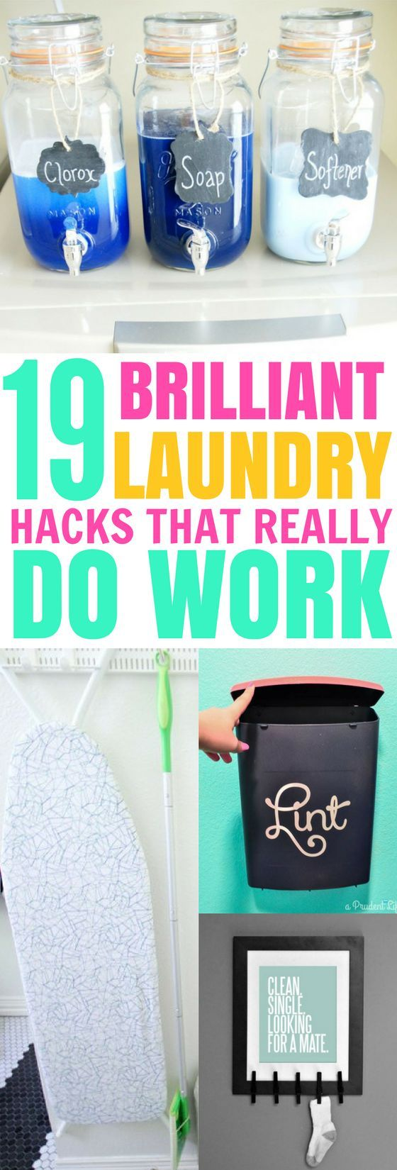 These 19 Laundry Room Hacks Are GENIUS! I love keeping a clean and organized laundry room, and these tips make it so easy!
