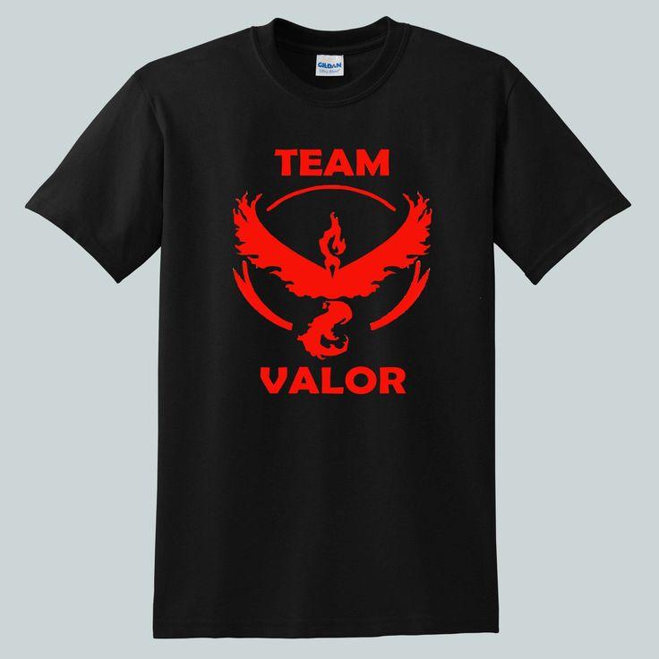 Pokemon+Go+Team+Valor+Anime+for+shirt+black,+tshirt+black+unisex+adult
