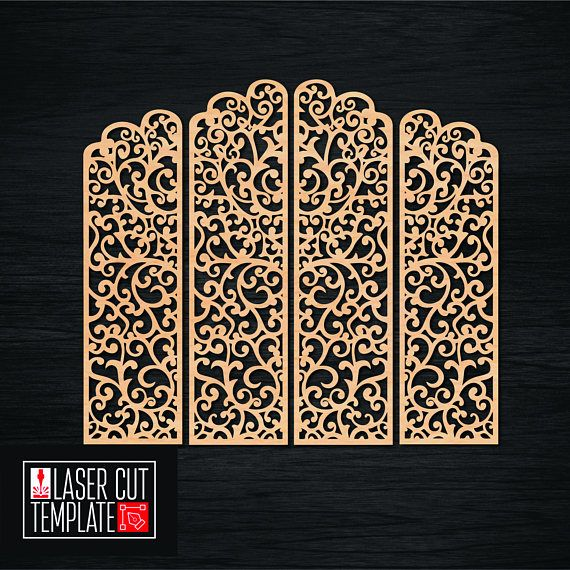 Cnc files Cnc mill Wedding Screen Cnc pattern Cnc wood carving Carving pattern Laser cut file Wedding cut file Svg cutting template  Vector layout for cnc machine. Laser models for cutting. Vector plan/model for laser cutter, cnc, lasercut, laser machine.  This model may be proportionally transform for different thickness material.
